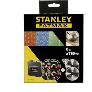 Stanley Fatmax 115mm Diamond & Bonded Disc Set - STA38085-XJ