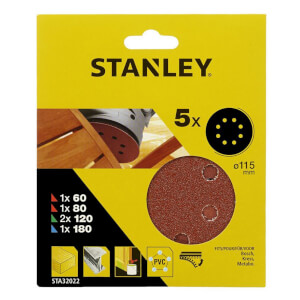 Stanley 115mm ROS Sheets Mixed Pack - STA32022-XJ