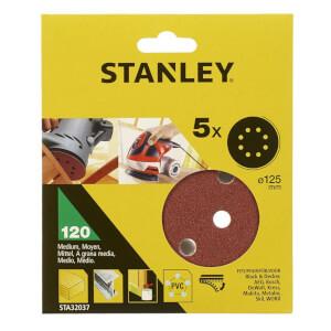 Stanley 125mm ROS Sheets 120G - STA32037-XJ