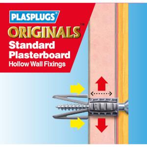 Plasplugs Standard Plasterboard Hollow Wall Fixings x 500