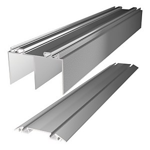 Duo Aluminium Sliding Door Track Set (W)1830mm