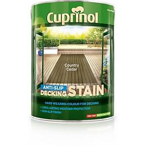 Cuprinol Anti-Slip Decking Stain - Country Cedar - 5L