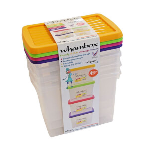 Whambox Set of 4 Handy Storage Boxes - 6.7L