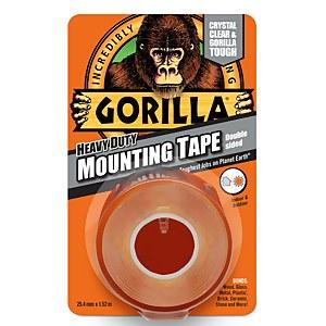 Gorilla Heavy Duty Mounting Tape 1.5m Clear
