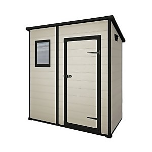 Keter Manor Pent Shed 6x4ft Beige/Brown