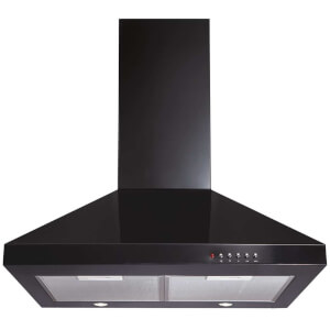 CDA ECH61BL Chimney Cooker Hood - 60cm - Black