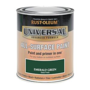 Rust-Oleum Universal All Surface Gloss Paint & Primer - Emerald Green - 250ml