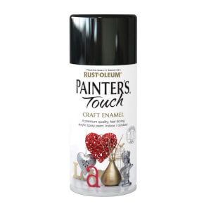 Rust-Oleum Painters Touch - Craft Enamel Spray Paint Black Gloss - 150ml