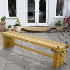 Forest Double Wooden Sleeper Bench - 1.8m