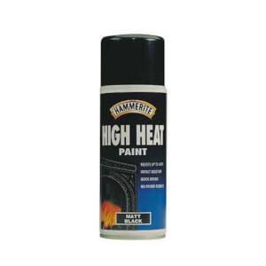 Hammerite Black - Aerosol High Heat Paint - 400ml