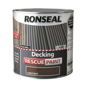 Ronseal Decking Rescue Paint Chestnut - 2.5L