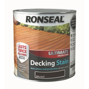 Ronseal Ultimate Protection Decking Stain Walnut - 2.5L