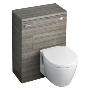 Ideal Standard Senses Space Back to Wall Toilet Unit Package - Dark Walnut