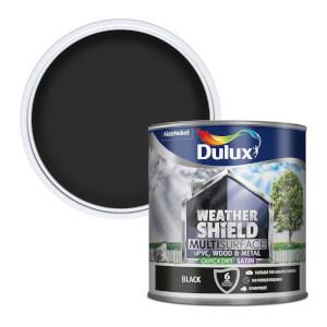 Dulux Weathershield Multi Surface Quick Dry Satin Paint - Black - 2.5L