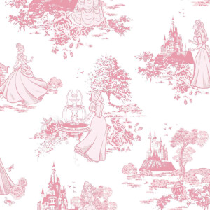 Disney Princess Toile Wallpaper