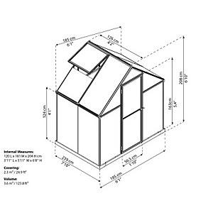Palram Mythos Silver Greenhouse - 6 x 4ft