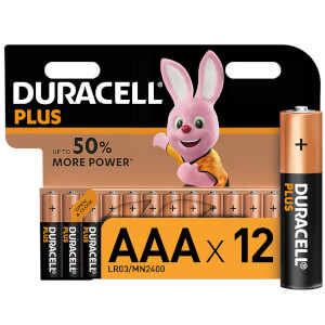 Duracell Plus AAA Batteries - 12 Pack