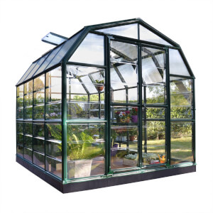 Rion 8 x 8ft Grand Gardener Black Greenhouse