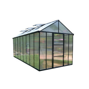 Palram Glory Anthracite Greenhouse - 8 x 16 ft