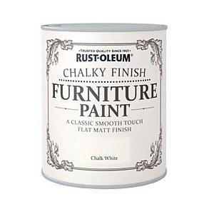 Rust-Oleum Chalky Furniture Paint - Chalk White - 125ml