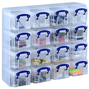Really Useful Boxes - Clear - 0.3L - 16 Box Set
