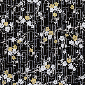 Fablon Sticky Back Plastic - Oriental Blossom - 450mm x 2m