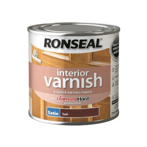 Ronseal Interior Varnish Satin Teak - 250ml