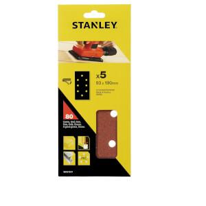 Stanley 1/3 Sheet Sander 80G Hook & Loop Sanding Sheets - STA31517-XJ