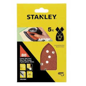 Stanley Mouse Sanding Sheets - 80G - STA31004-XJ