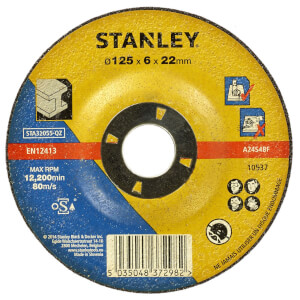 Stanley 125mm Metal Grinding Disc - STA32055-QZ