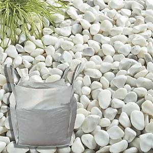 Stylish Stone Pearl White Cobbles - Bulk Bag 750 kg
