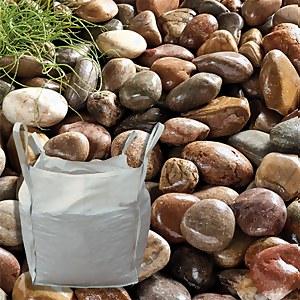 Stylish Stone Large Beach Cobbles - Bulk Bag 750 kg