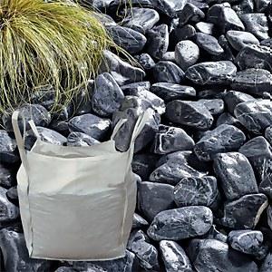 Stylish Stone Black Sea Cobbles - Bulk Bag 750 kg
