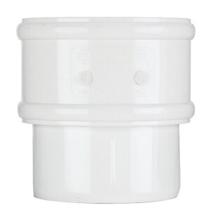 Polypipe Round Downpipe Connector - 68mm - White