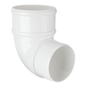 Polypipe Downpipe Offset Bend - 68mm x 92.5 Degree - White