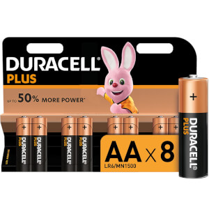 Duracell Plus AA Batteries - 8 Pack