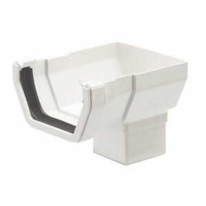 Polypipe Square Stop End Outlet - 112mm - White