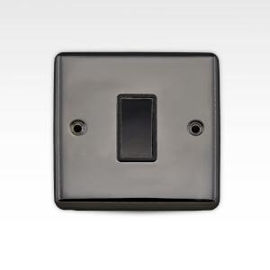 Arlec Metal Screwed 10 Amp 1 Gang 2 Way Switch Black Nickel