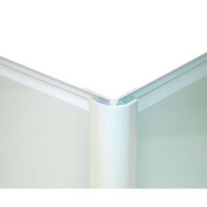Zenolite Colour Matched PVC External Corner - Splashback Profile - 125cm - Glacier