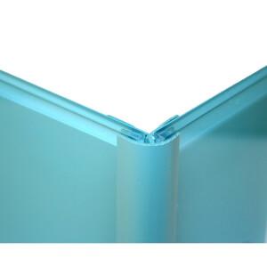 Zenolite Colour Matched PVC External Corner - Splashback Profile - 125cm - Blue Atoll