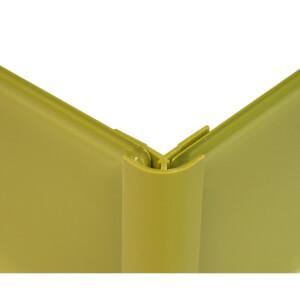 Zenolite Colour Matched PVC External Corner - Splashback Profile - 125cm - Forest