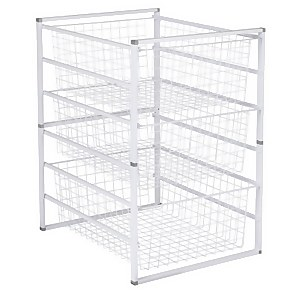 3 Wire Baskets Storage Tower