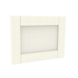 Timber Shaker Ivory Painted Integrated Extractor Door (597x445)