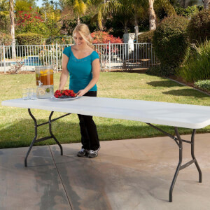 Lifetime 8-Foot Fold-In-Half Table (Light Commercial)