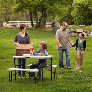 Lifetime Folding Picnic Table with Benches