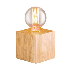 Dov E27 60W Timber Table Lamp - Natural
