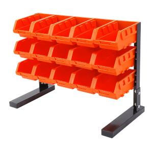 Tactix 15 Piece Table Top Bin Rack