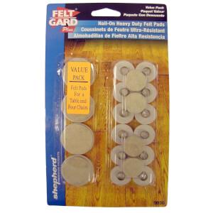 Felt Pad Heavy Duty Nail In Assortment - 20 Pack