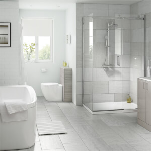 Classico Light Grey Wall and Floor Tile 6 pack