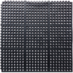 Rubber Interlocking Mat Black